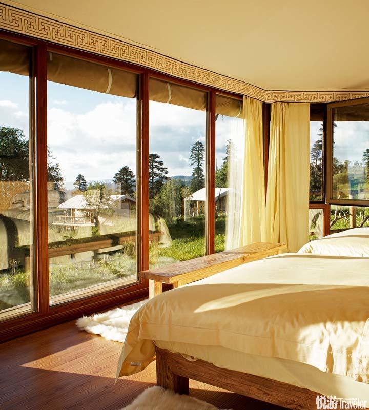 康藤·格拉丹帳篷營地 Kingsway Tented Resort:這處位于格拉丹草原的營地共由17 頂帳篷組成,其中七頂是...