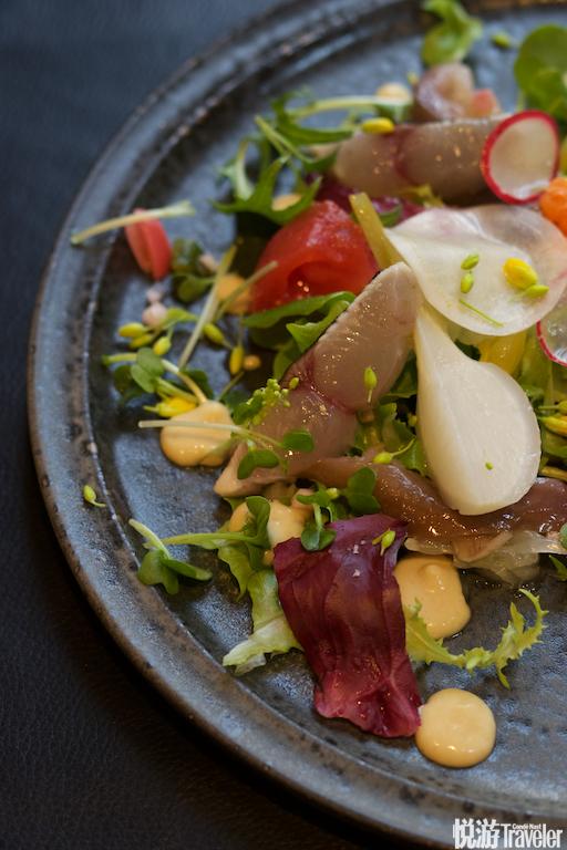 长崎Impeccable餐厅的出品使用的蔬菜和鱼鲜都来自本地。