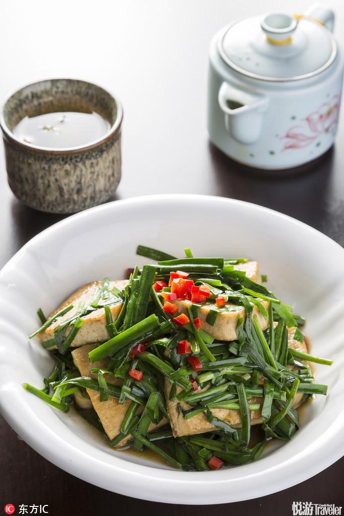 韭菜炕豆腐