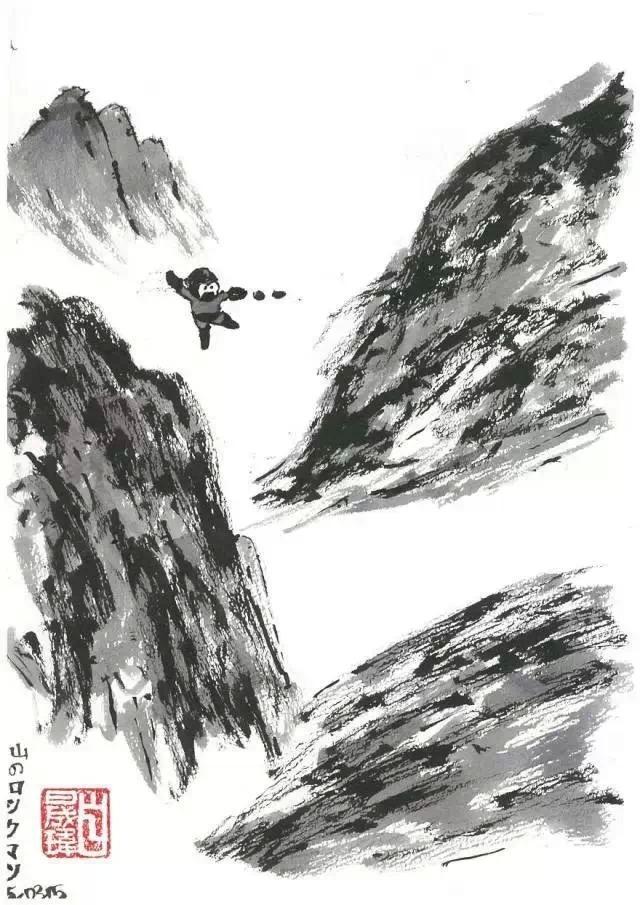 国外有一个中国文化爱好者学画中国水墨画,很可能是个日本人而且还是个热爱动漫的宅一族,他画的水墨山水猛一看很正常,就是感觉哪里怪怪的,仔细看才发现里边乱入了好多奇奇怪怪的东西,比如龙猫钓鱼、隐居的皮卡丘、醉卧山水间的卡比兽……画风真是好特别。