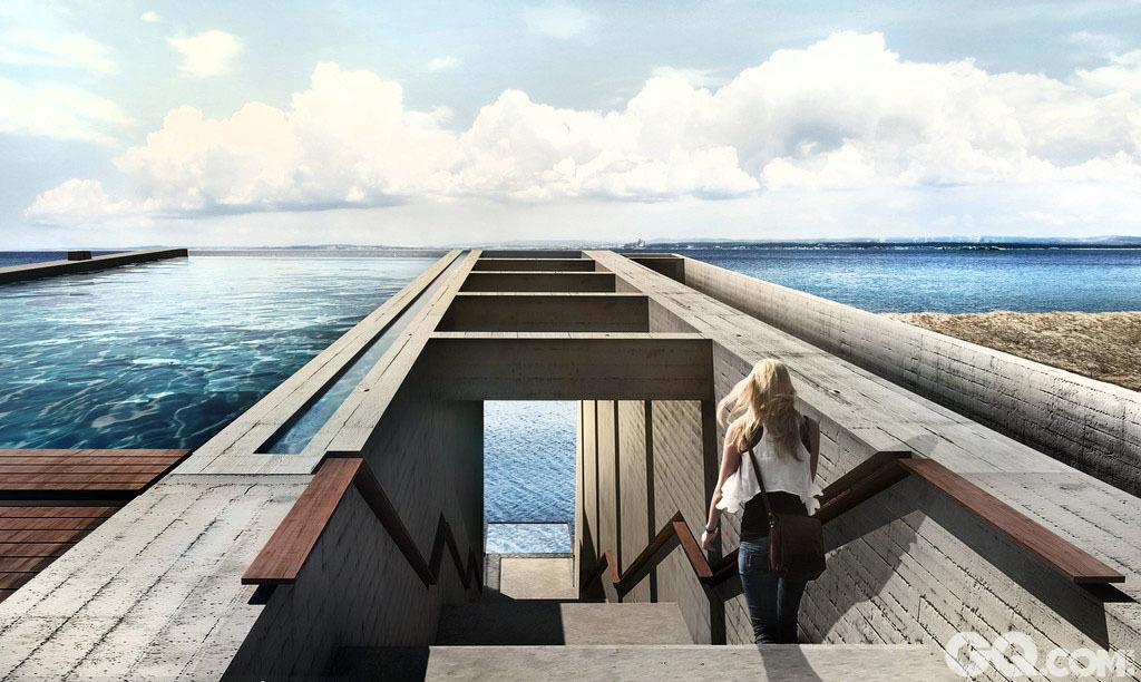 到这里感受眺望爱琴海的悬崖海景房