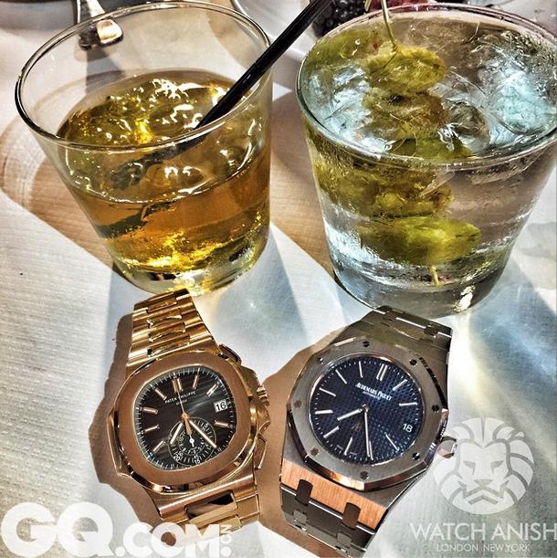 """这种图的原文是""""Can you name the watches... And the drinks?""""你猜的出来吗?这两款都是欧洲绅士们最爱的表款。"""
