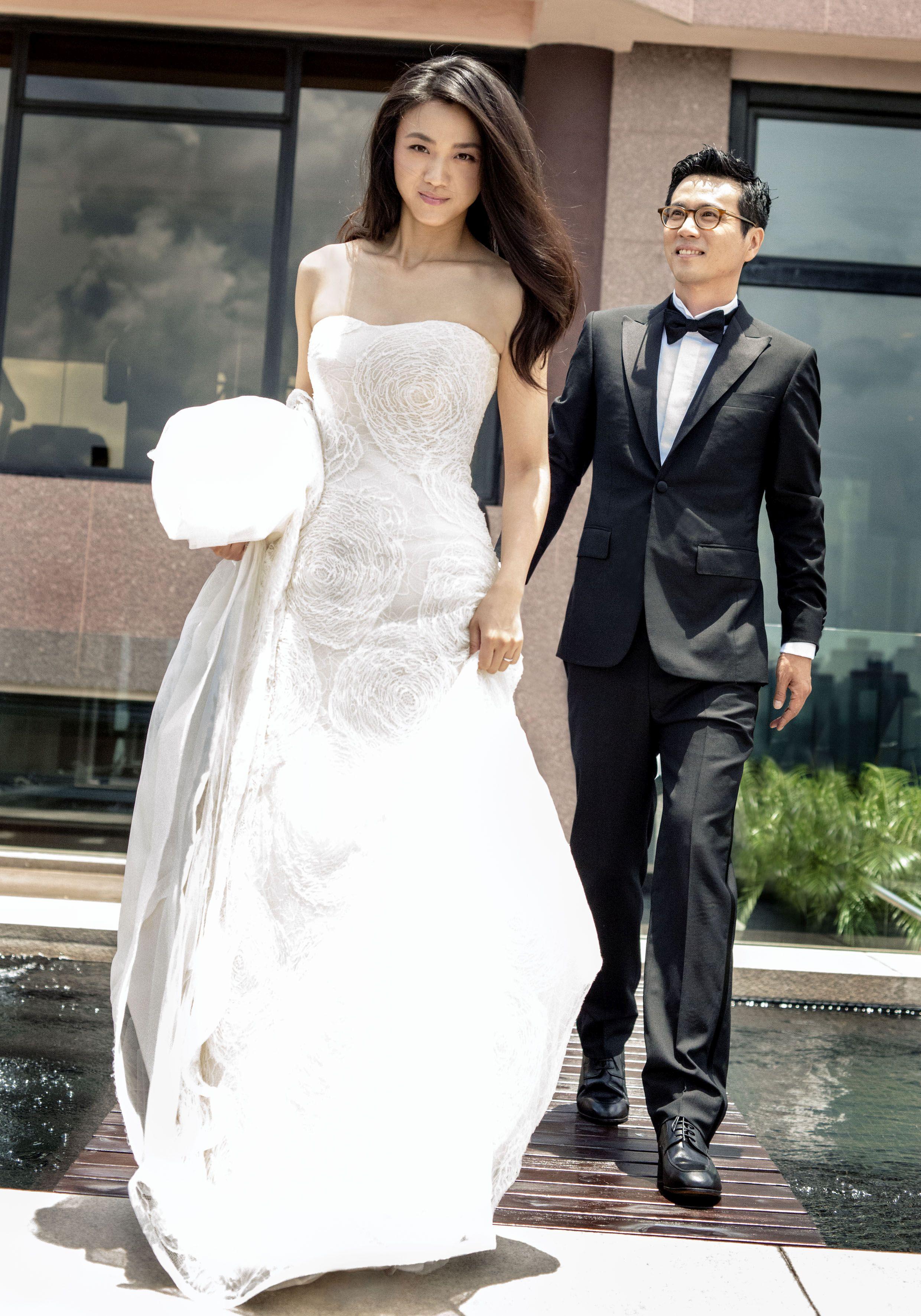 当地时间2014年1月8日,印尼巴厘岛,杨幂,刘恺威举办婚礼.