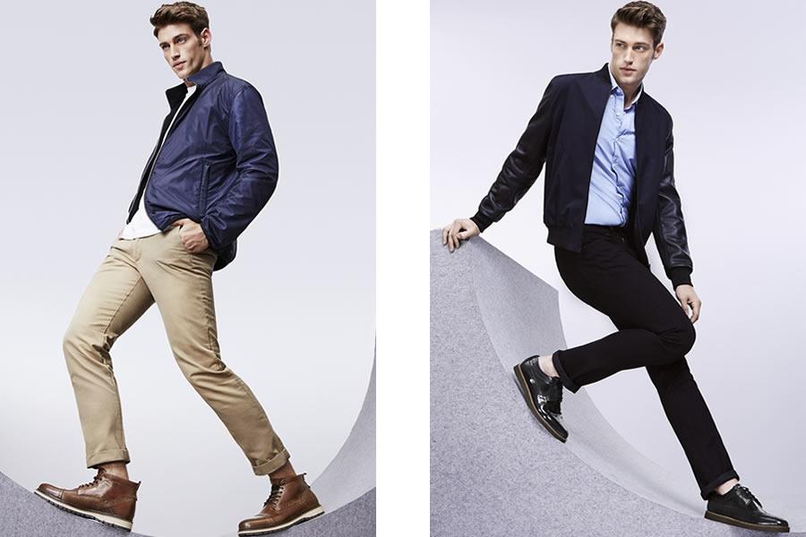 本季推出了适合秋冬的布洛克鞋,以及切尔西靴,拼接色与渐变色的设计既