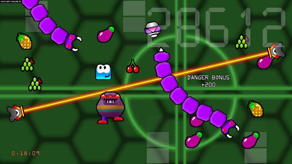 NO.6《不要死,机器人先生》 另一款在PS vita上运行的游戏名叫《不要死,机器人先生》,游戏画风活泼可爱,操作灵活多变,玩家只是躲避威胁,吃水果,情节简单到不要任何思考。
