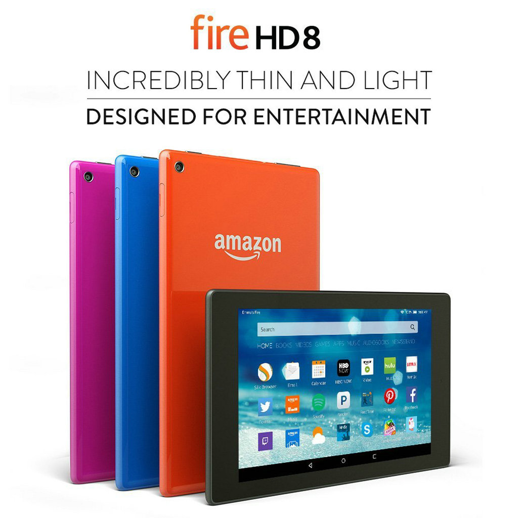 NO.4 第七代Amazon Fire HD 8则是另一款促销流行产品,相比较自家的Amazon Fire 7有高清的视频影音和语音立体声效果加持。