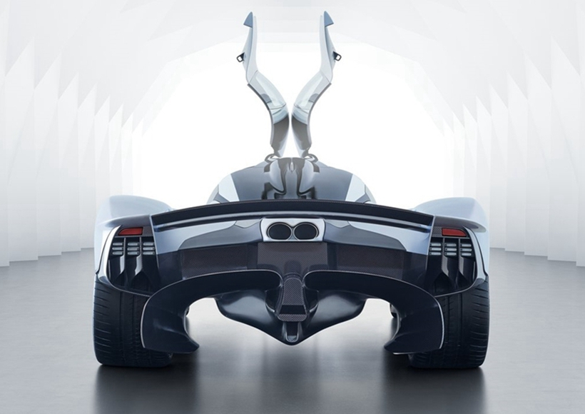 """为了最大化内部空间,座椅直接安装在浴缸上,乘客采用倾斜的""""脚""""位置,让人想起今天的一级方程式赛车和勒芒原型赛车,确保司机和乘客非常安全,完美支持,完全感受到 一辆车。标配四点式线束,而对于打算进行更多轨道驾驶的人来说,可选配六点式线束。"""