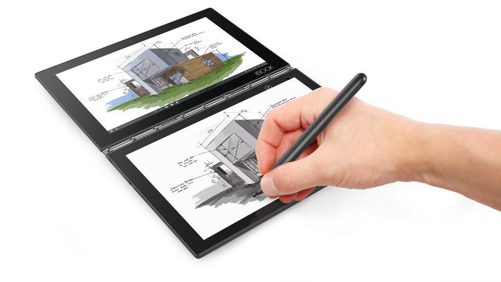 NO.5 Lenovo Yoga Book 尽管国产厂家在笔记本电脑方面没有积累更多的经验,但是联想公司还是凭借卓越的制作工艺和负于探索精神的创新,赢得了市场。比如这一款Yoga Book,触摸板的独特设计和绘画板的搭配,难以掩盖开发人员的溢流而出的才华。