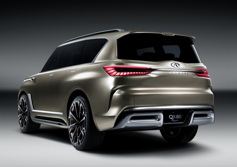 "Infiniti用""强大优雅""的设计语言开发了一款满足客户期望的豪华SUV—Infiniti QX80 Monograph。"