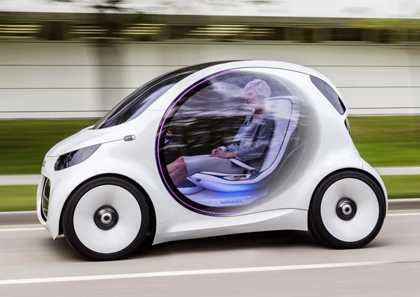 小巧精致、高度灵活的Smart Vision EQ ForTwo Concept交给了城市新型工具一个无与伦比的完美答案:连接、自动、共享和电力。在它身上,我们可以窥见到2030之后,城市未来的模样。