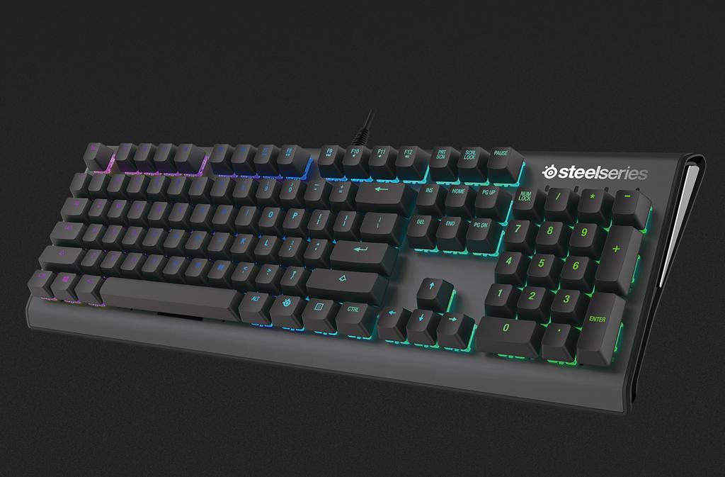 NO.5赛睿Apex M650 RGB键盘 赛睿Apex M650 RGB键盘具有基本机械键盘的优势,例如键盘不会留下指纹、高达5000万次的点击寿命、采用按键无冲技术、1680万色的RGB背光系统,可见是一款满足基本要求的键盘,不过最大的特点还是赛睿QX2轴体。 参考价格:789元
