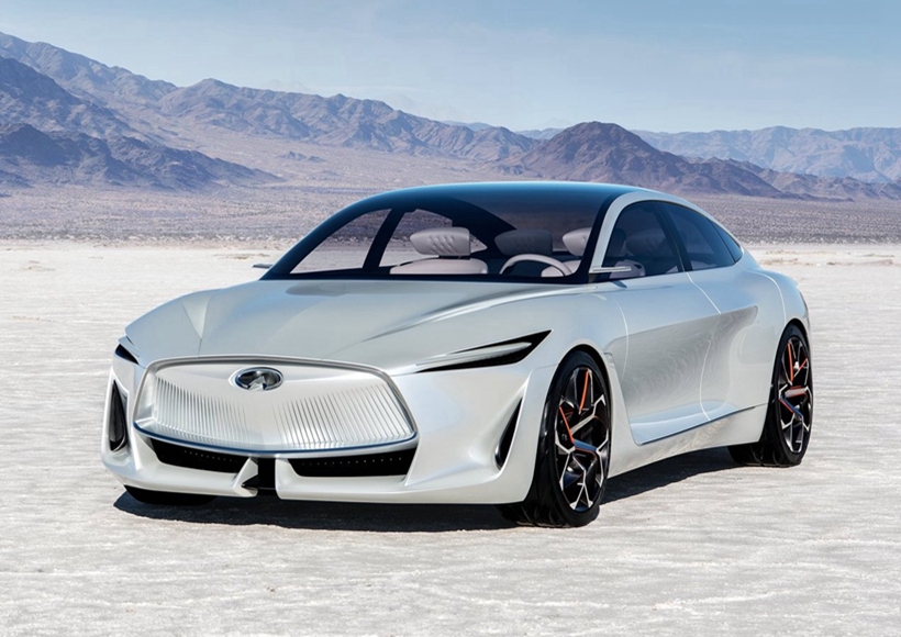 在Infiniti Q Inspiration Concept,可以看到Infiniti此次想要改变的决心,清晰、明朗的车顶线条取代了扇形后柱,使其从侧面看起来别具一格。