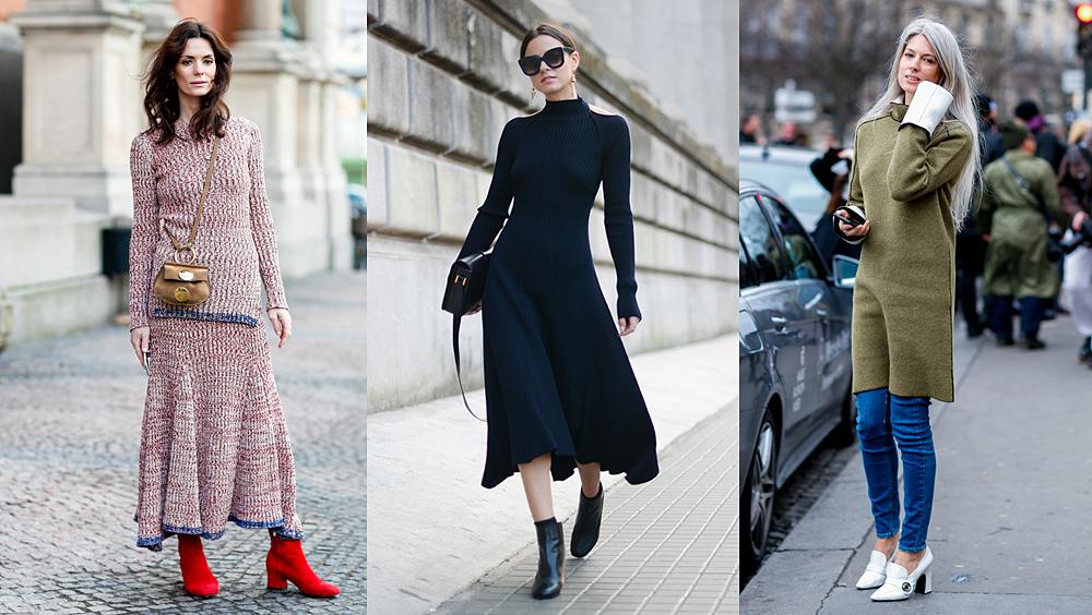 一条针织裙有多美,穿对它的时候你就知道了