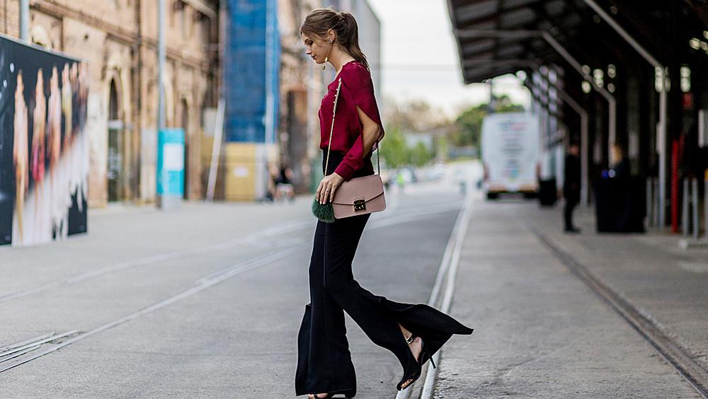 阔腿裤穿不好看和身材没关系 你只是鞋子没选对