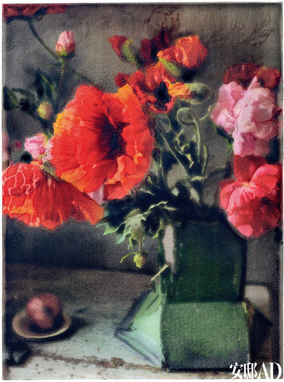 汤普森的摄影美术作品,他对花朵的捕捉惟妙惟肖。