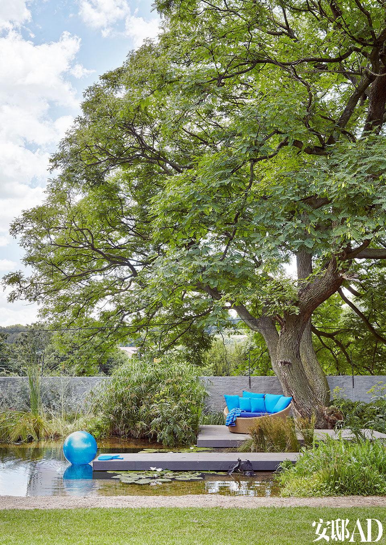 房子周围有现成的树林和美景,这个家优雅地融入其中,就像风景区中的一座亭榭。