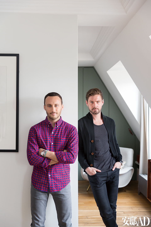 主人: 设计师克里斯多夫·普耶(ChristophePoyet)(左)与合伙人Emil Humbert (右)