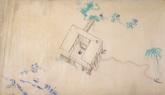 夏洛特当年手绘的草图。