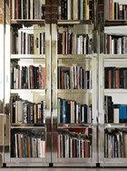 拥有切割镜面装饰框的大书架在家中多次出现,它们承载着主人的书籍和电影光盘。