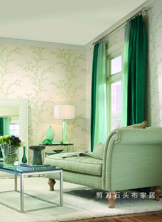 绽放春色的居室 剪刀石头布家居窗帘壁纸清仓盛宴
