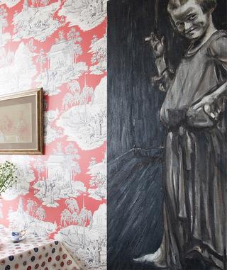 80㎡ | 画和壁纸如何装点艾美丽的小窝?