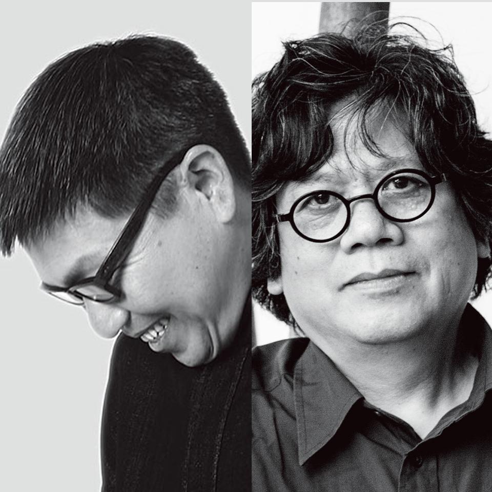 梁建国(左)林学明(右)