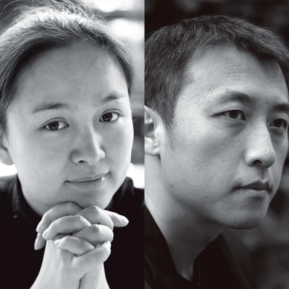 黄文菁(左)李虎(右)