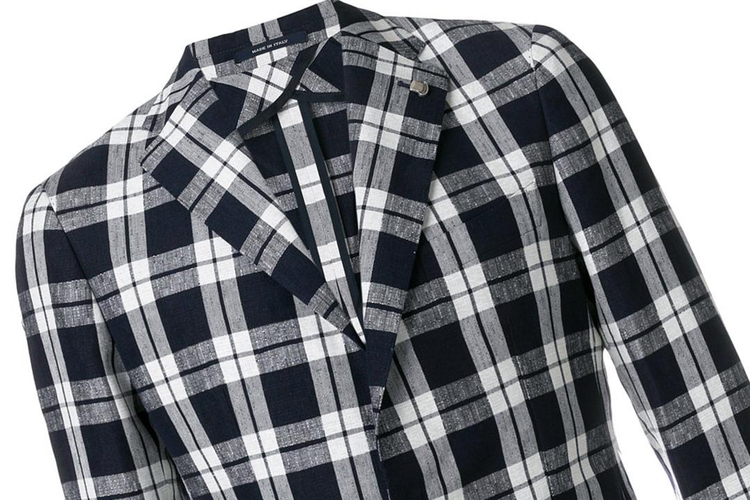 兼具商务与时髦的格纹西装夹克