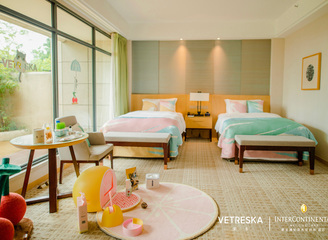 未卡VETRESKA攜手黑龍灘長島天堂洲際酒店打造特色寵物主題房
