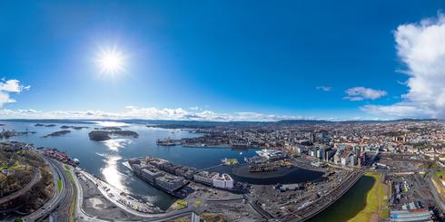 挪威奧斯陸高空全景鳥瞰