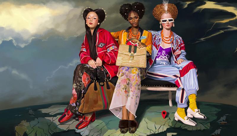 Gucci 2018 春夏系列广告形象大片:奇幻乌托邦
