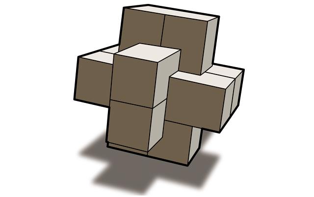 九连环在中国传统智力玩具中的地位数一数二,不过,如今九连环的解法几乎已经标准化:一二一三一二一。与解法相比,更风雅的谈词是九连环的起源时间、《红楼梦》中那点引文和拓扑学问题。拓扑学的解释多少让这种古老的玩具显得有些单调无聊:有n个环的九连环的全程玩法的总步数就是2的n次方减1,循环往复,手熟而已。出现在《红楼梦》中应该不是偶然,因为它确实很像是有教育意义而且高尚的闺房玩具:九连环玩熟后基本不用眼睛指引手指动作,几进几退全凭手下惯性,完全是打毛衣的入门教具。关于九连环的略有趣点的消息倒是:据说许多魔