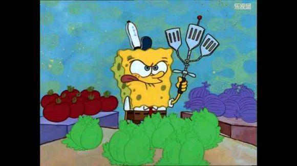 海绵宝宝是蟹堡王餐厅的员工每天都要使用锅铲翻动肉饼而为了提高