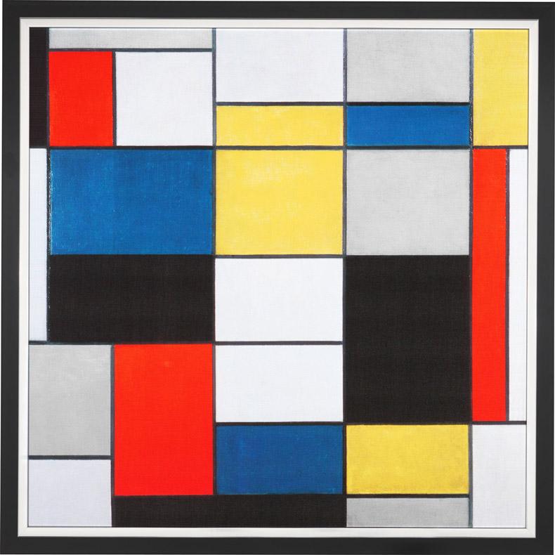蒙德里安抽象画作品-用穿衣冒充艺术人,得重回热闹的60年代