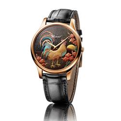 农历鸡年元素腕表 莳绘浮雕珐琅竞技
