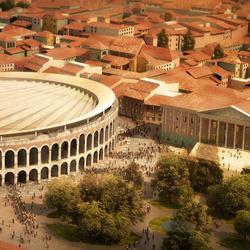设计师要给古罗马竞技场装一个现代的屋顶,马上就要实施了