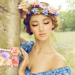 姑娘的波西米亚长裙