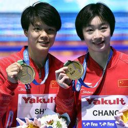 2017游泳世锦赛女子双人3米板决赛:施廷懋/昌雅妮夺冠