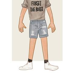 每日穿搭|只有年轻人才能穿得出的牛仔短裤的诗情画意