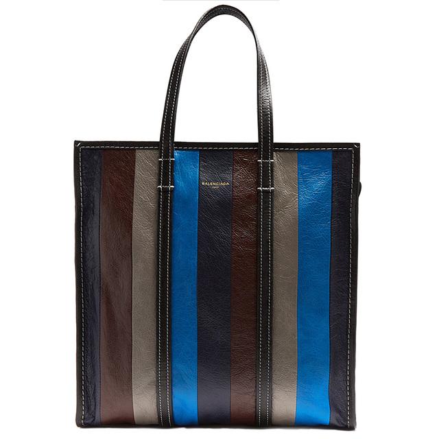 灵感来源于泰国街头的皱羊皮拼色Tote包