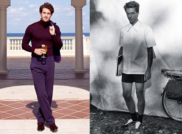 男平面模特pose造型图片
