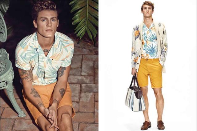 像是棕榈树,椰子树之类,这些植物也经常被添加至服装中.