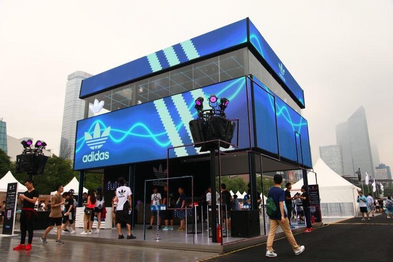 adidas originals x百威风暴电音节广州站展台