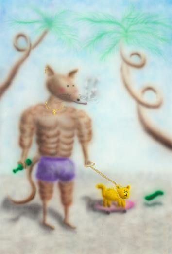 肌肉鼠爸,有点凶 MOUNSEY 2020鼠年生肖系列 Youada 3ge3 project