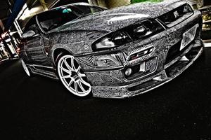 超级抢眼的汽车绘画