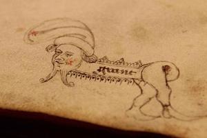 古人也玩儿这个?来看800年前的课本涂鸦