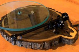 用树木打造的黑胶唱片机