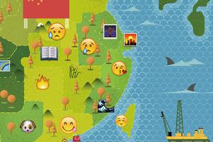 一幅Emoji地圖