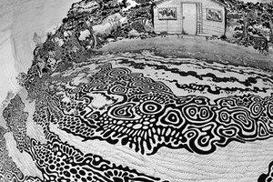 巴西艺术家的360°穹顶绘画