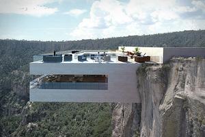 悬崖餐厅享受高空垂直刺激